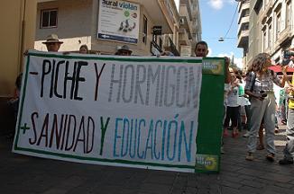 LOS VERDES APOYAN LA MANIFESTACIÓN CONTRA EL ANILLO: Sábado 26 Septiembre de 2009